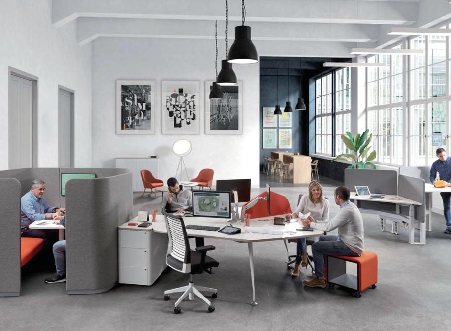 estructura de oficinas diseñadas por contract